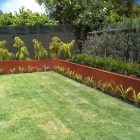 Corten Steel Garden Wall Lump Studio