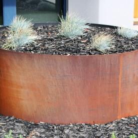 Large Round Corten Garden Planter
