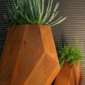 Extra Large Corten Metal Garden Planters